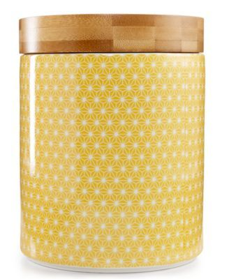 Certified International Chelsea Collection Yellow Poppy Canister | macys.com