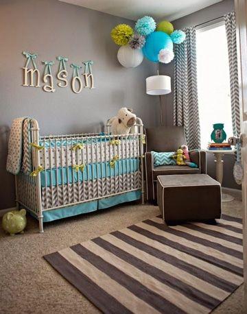 Una adecuada decoracion para cuartos de bebes recien for Cuarto de nino recien nacido