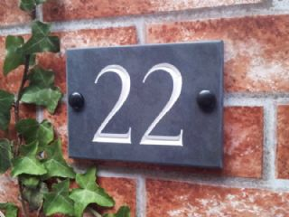 Slate House Number Slate House Numbers Door Number Sign Front