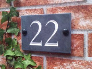 22 | slate house number | numbers | pinterest | slate house