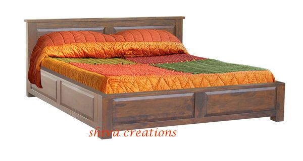 Buy Online Solid Sheesham Wooden Box Bed Design Box Bed Design Double Bed Designs King Size Bed Furniture