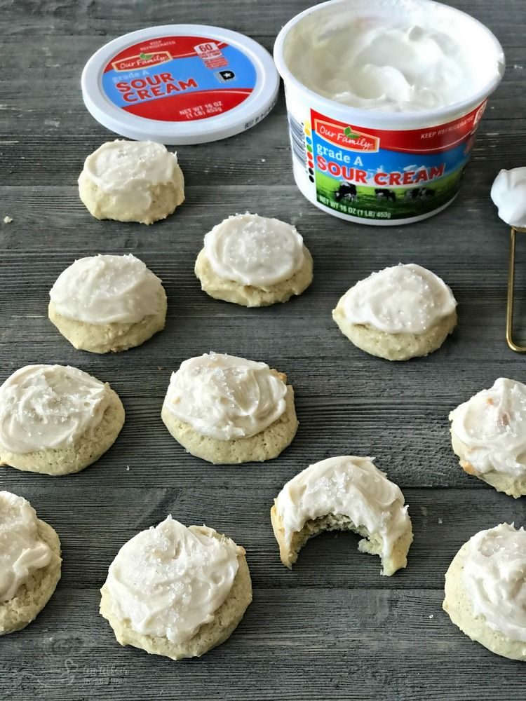 Soft And Slightly Sweet Old Fashioned Frosted Sour Cream Sugar Cookies Recipe Sour Cream Sugar Cookies Sour Cream Cookies Sour Cream