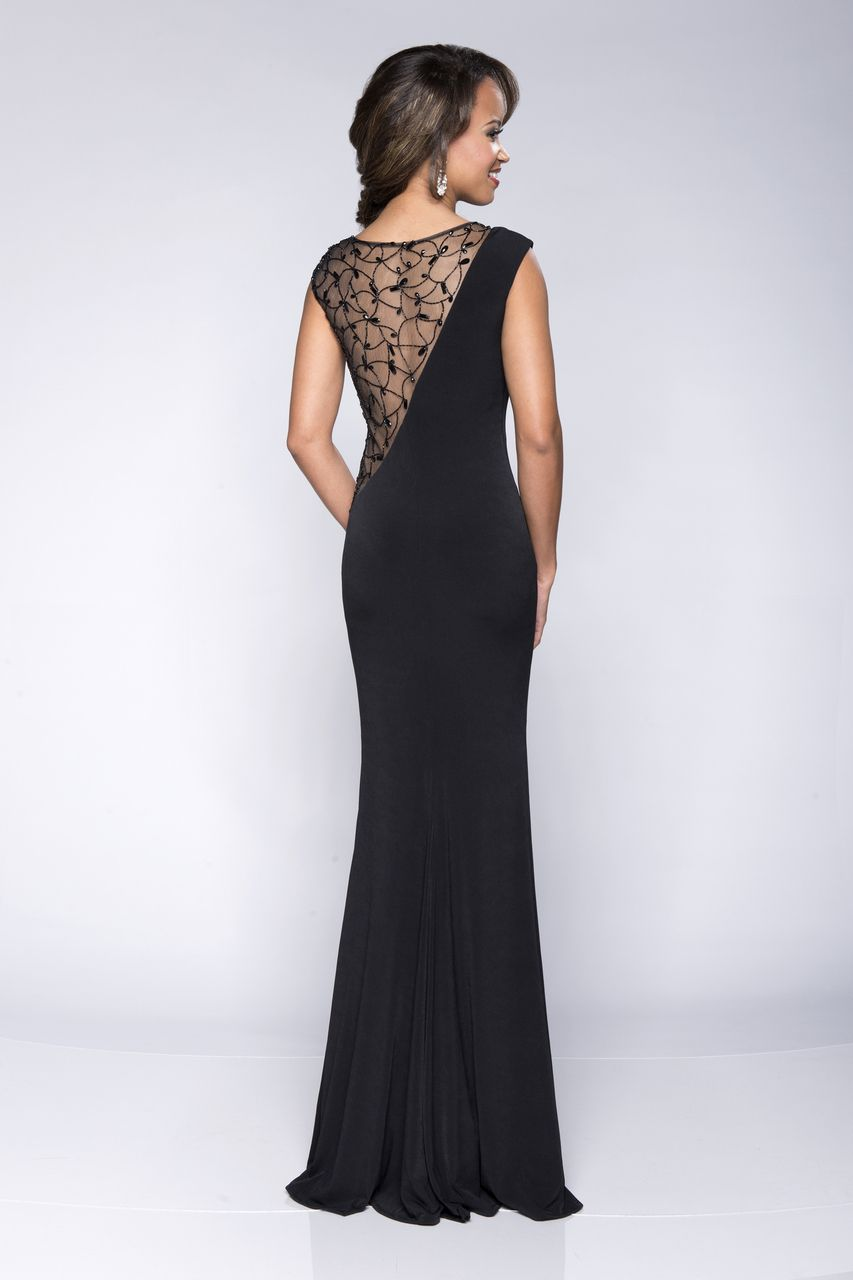 Divinely Hers Boutique - Sexy Angle. Black dress with sheer back. Sexy Mother of the Bride or banquet dress. (http://stores.divinelyhersboutique.com/sexy-angles/)