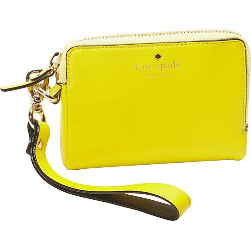 Click Image Above To Buy: Kate Spade New York Bright Spot Ave Julia Vivid Yellow - Kate Spade New York Designer Ladies Wallets