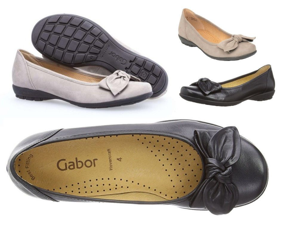 Sporty Ballerinas GABOR Women's Leather Flat Shoes 04.325