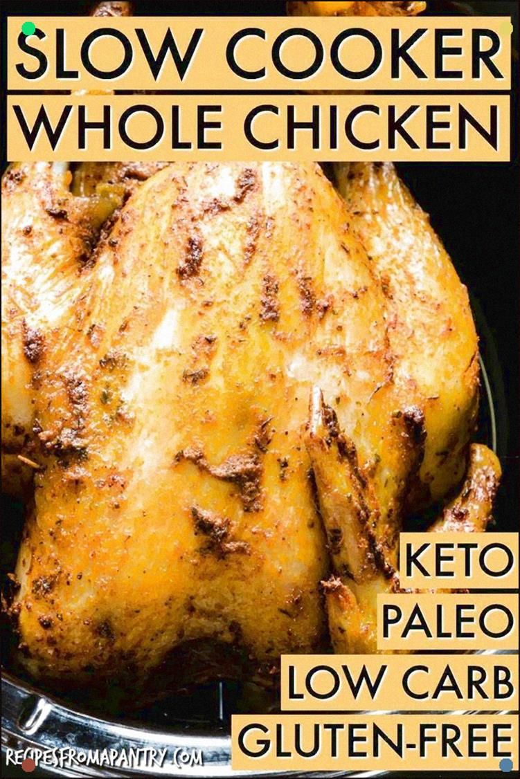 Learn How To Easily Cook A Whole Chicken In The Crockpot. This Is A Simple And Easy-To-Follow Crockpot Recipe That Can Be Modified With Different Flavor Profiles. Paleo, Keto And Low Carb Diet Friendly.
