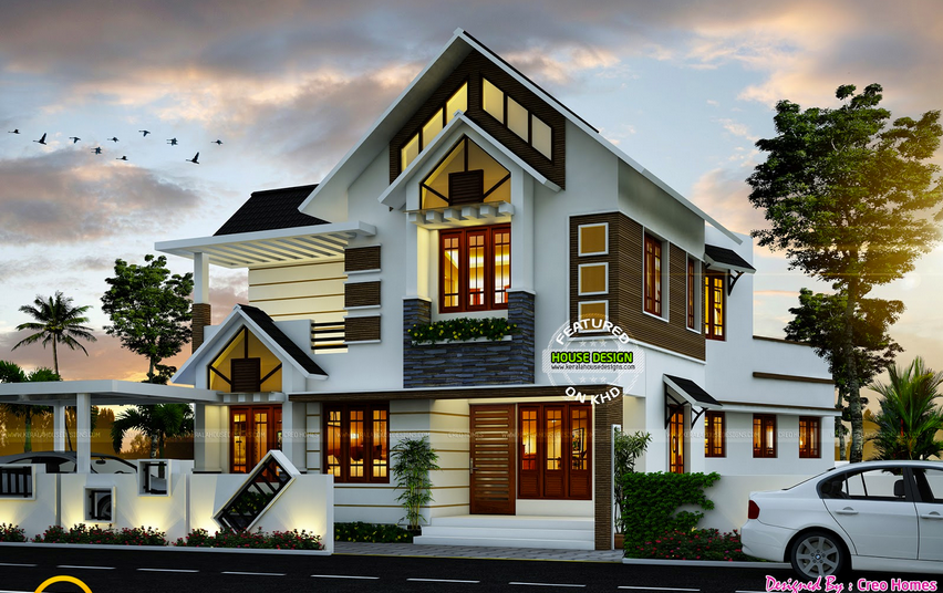Kerla Design Home Elevation Kerala House Design House Designs Exterior New House Plans