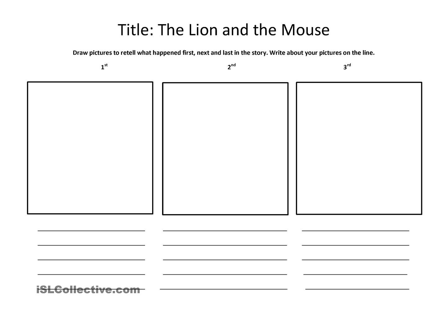 Worksheets  The lion and The MOUSE | Education | Pinterest | Lions, Mice