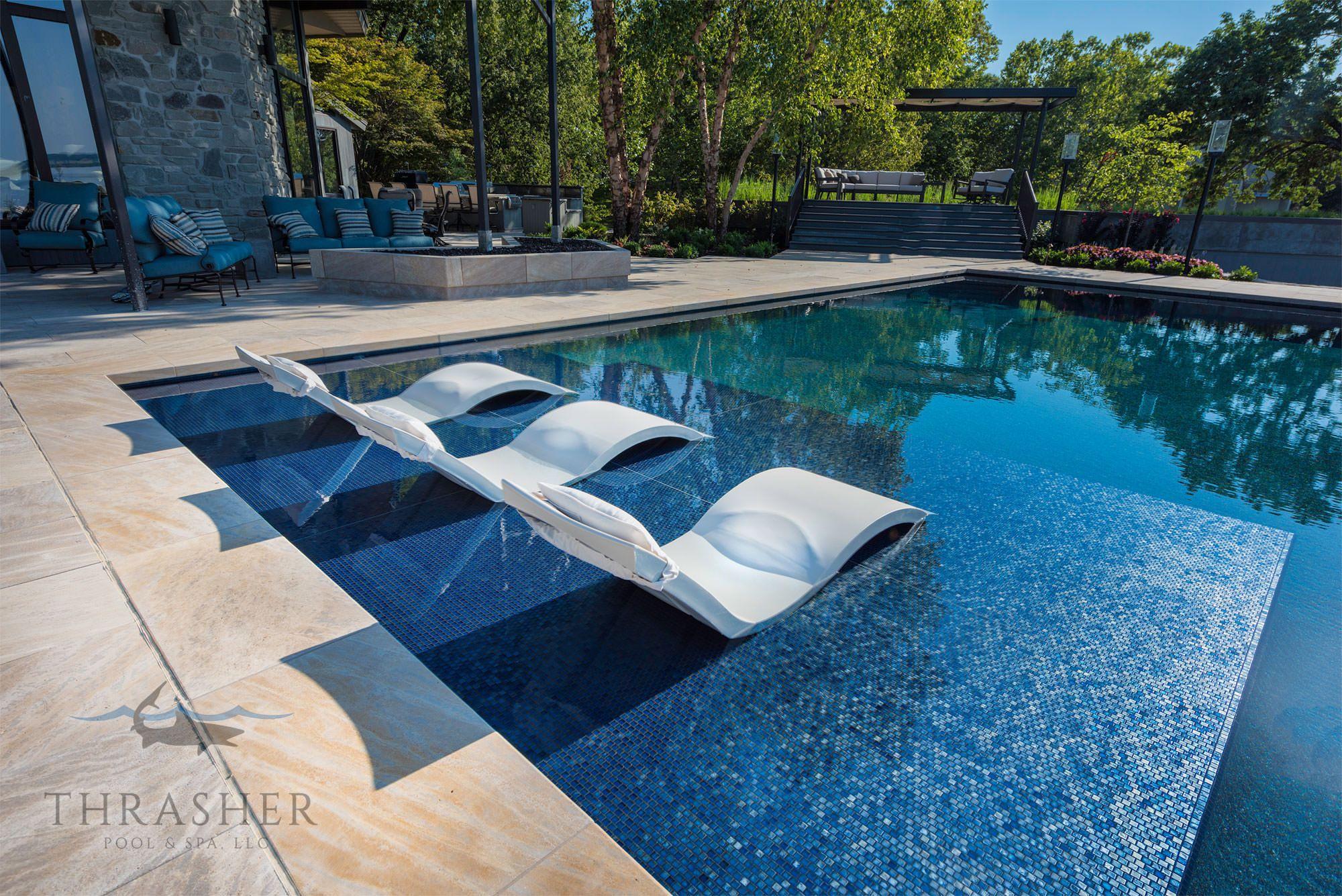 Pool Featuring Oceanside Gl Tile