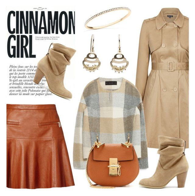 """Cinnamon girl by Little h Jewelry"" by littlehjewelry ❤ liked on Polyvore featuring Joie, City Chic, Zara, Anja, Sole Society and Chloé"