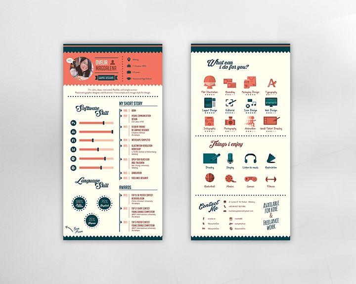 Cv resume vintage style by wangmeihua