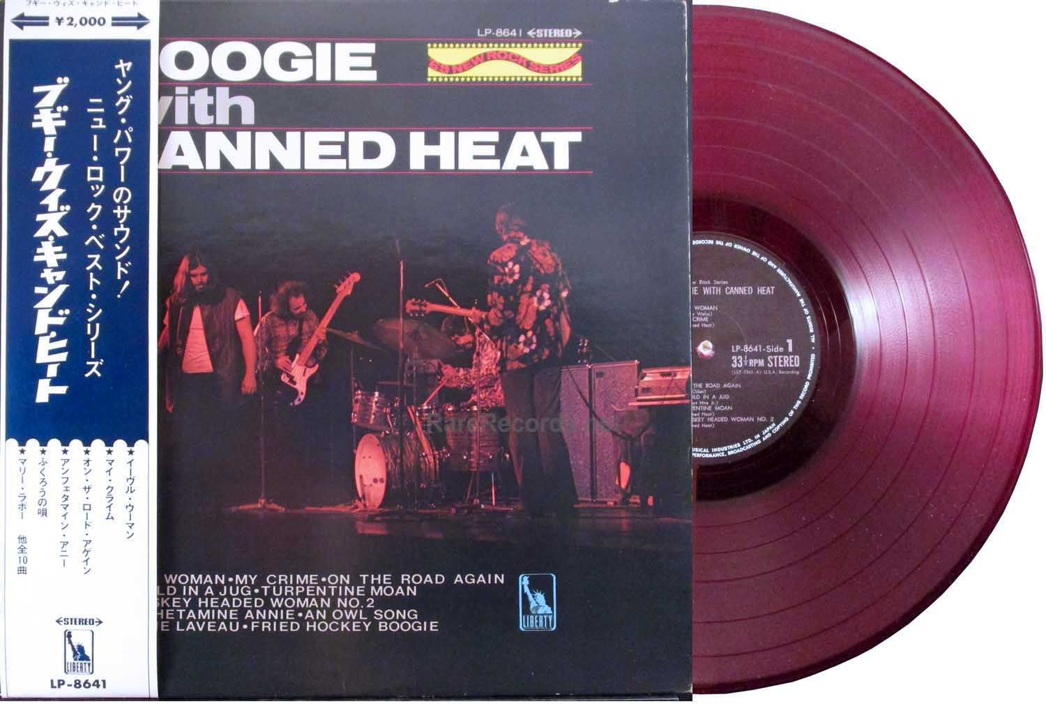 Canned Heat Boogie With Canned Heat Liberty Records 1968 Rare 1968 Japanese Version Of The Album Pressed On Red Vinyl Canned Heat R B Albums Rare Records