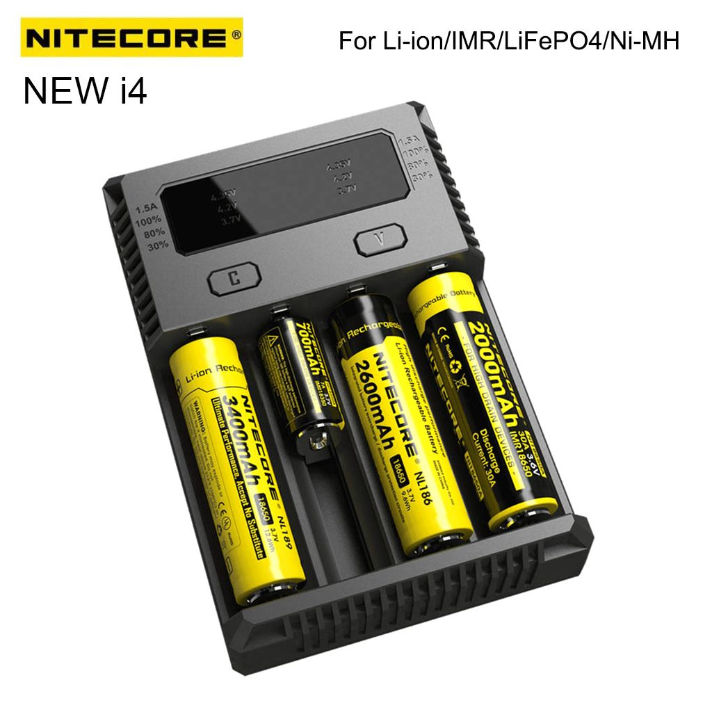 The Nitecore New I4 Can Almost Charge All Kinds Of Cylinder Batteries Without Buying Extra Chargers Teknoloji