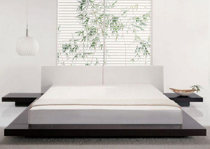 Asian Inspired Platform Bed in Wenge Finish