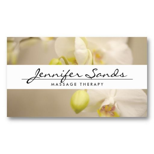 Elegant name with orchids customizable business card template elegant name with orchids customizable business card template reheart Choice Image