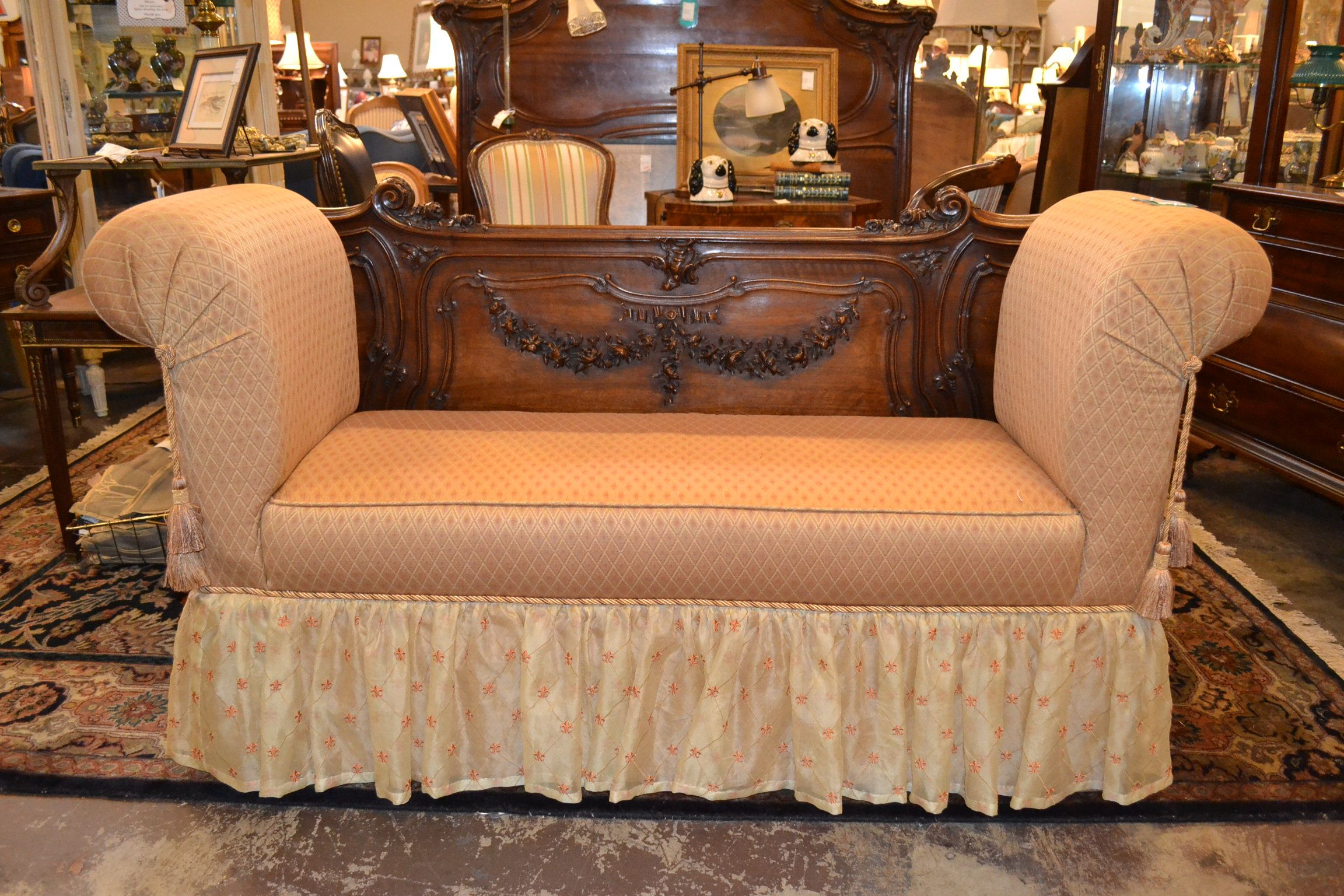 Custom French Upholstered Window Bench French Bench Window Benches French Windows
