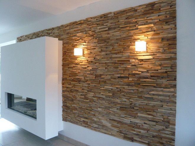 licht op hout met grof reliëf maakt warm en speelt met kleuren, Deco ideeën