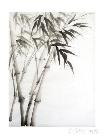 Watercolor Painting Of Bamboo Kunstdruk Le Bambou En 2019