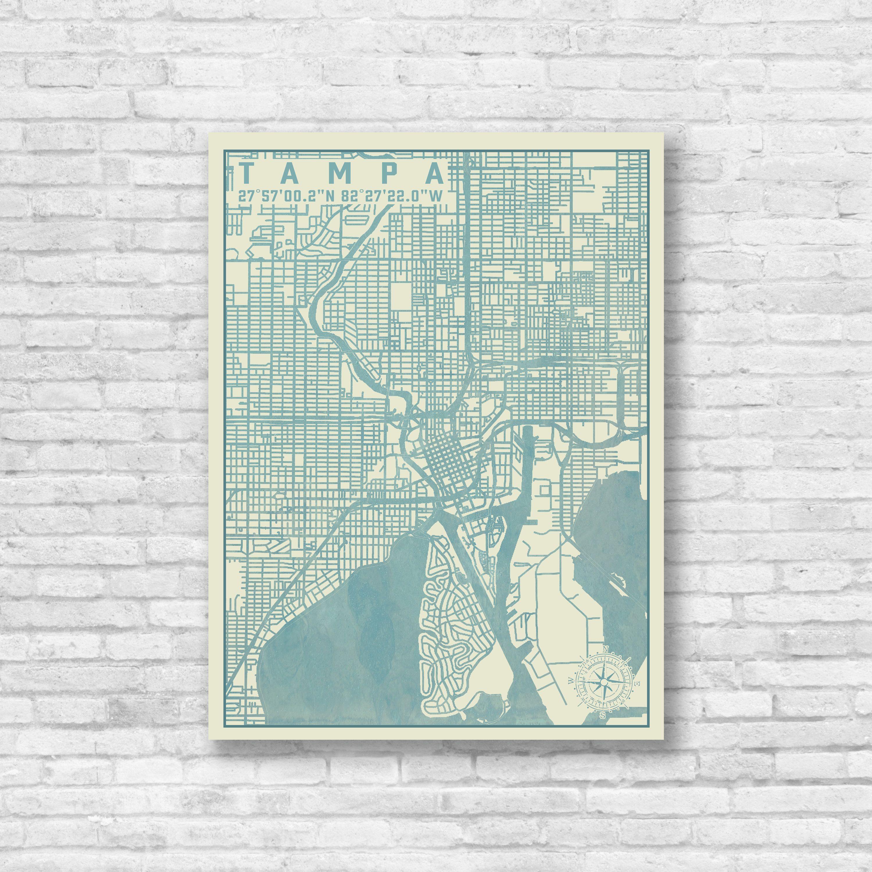 Tampa Florida Map.Tampa Florida City Map Map Decor Tampa Map Tampa Street Map