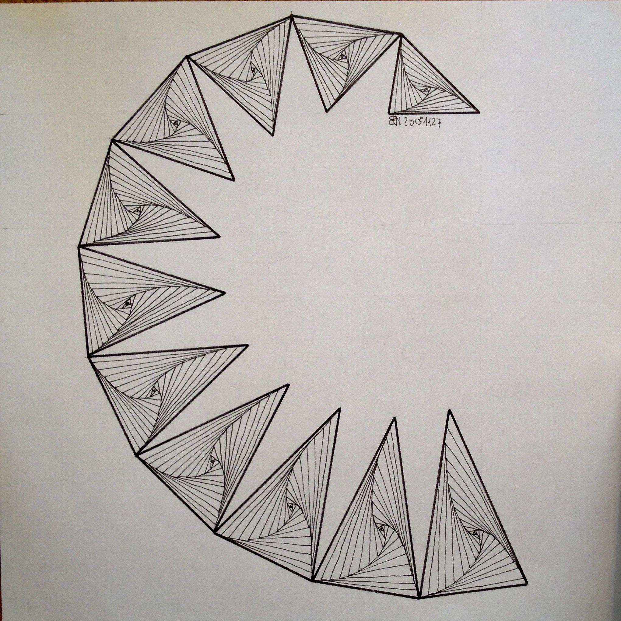 regolo54 #geometry #symmetry #pattern #ink #handmade #string ...