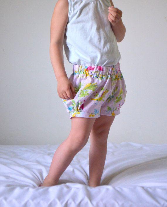 Bubble Shorts size 3T Flamingo print ready-to-ship by HungieGungie