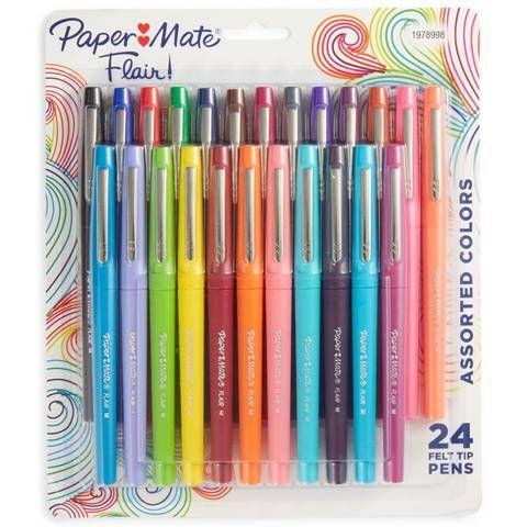Paper Mate 24pk Felt Tip Marker Pens Multicolor Ink Paper Mate