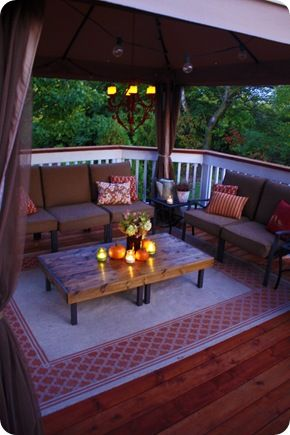 The Deck Reveal Small Deck Decorating Ideas Gazebo On Deck