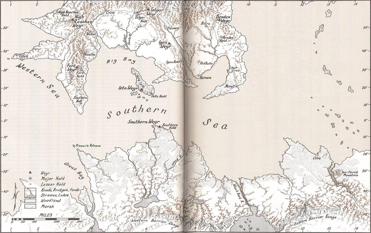 Map of Pern   Atlas of Pern.