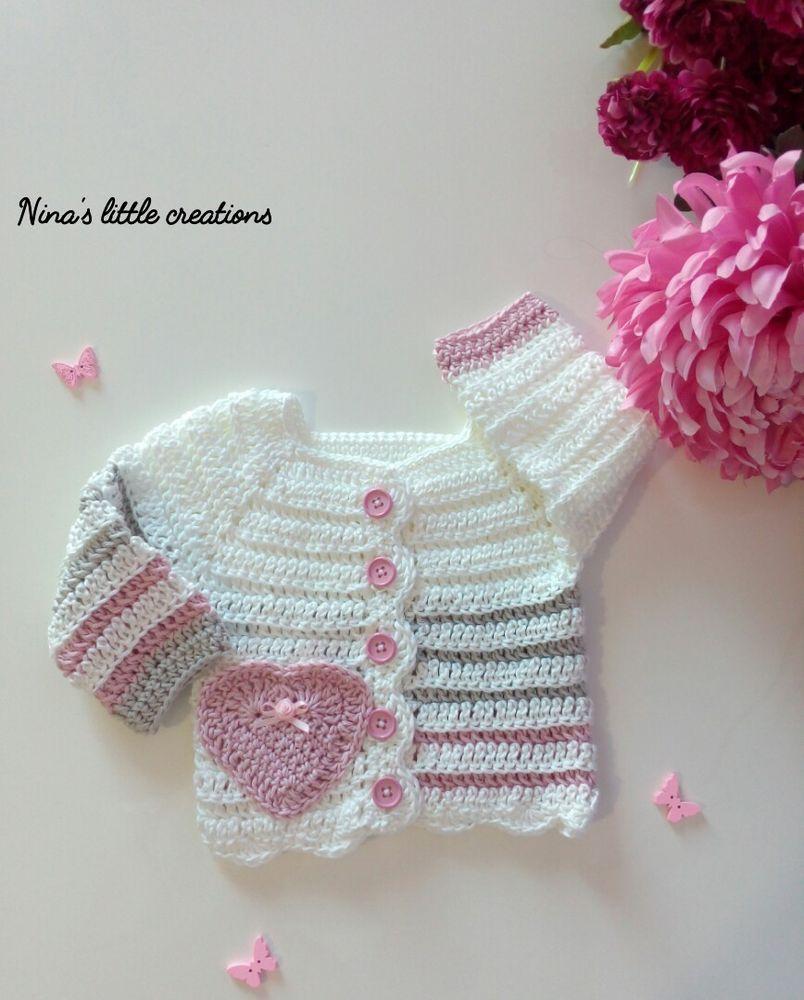 Golfino Copri Fasce Per Neonata Alluncinetto Crochet Knitting
