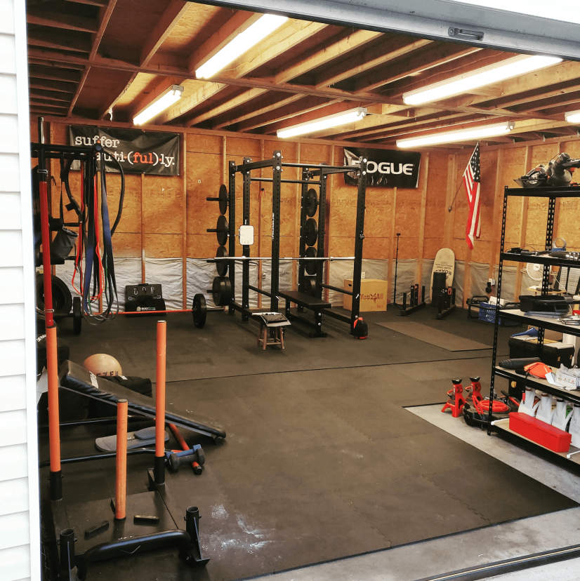 Rogue Equipped Garage Gyms Photo Gallery Rogue Fitness Garage Gym Gym Photos At Home Gym