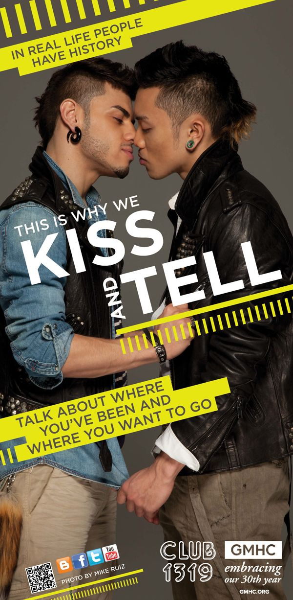 Gay latino kiss