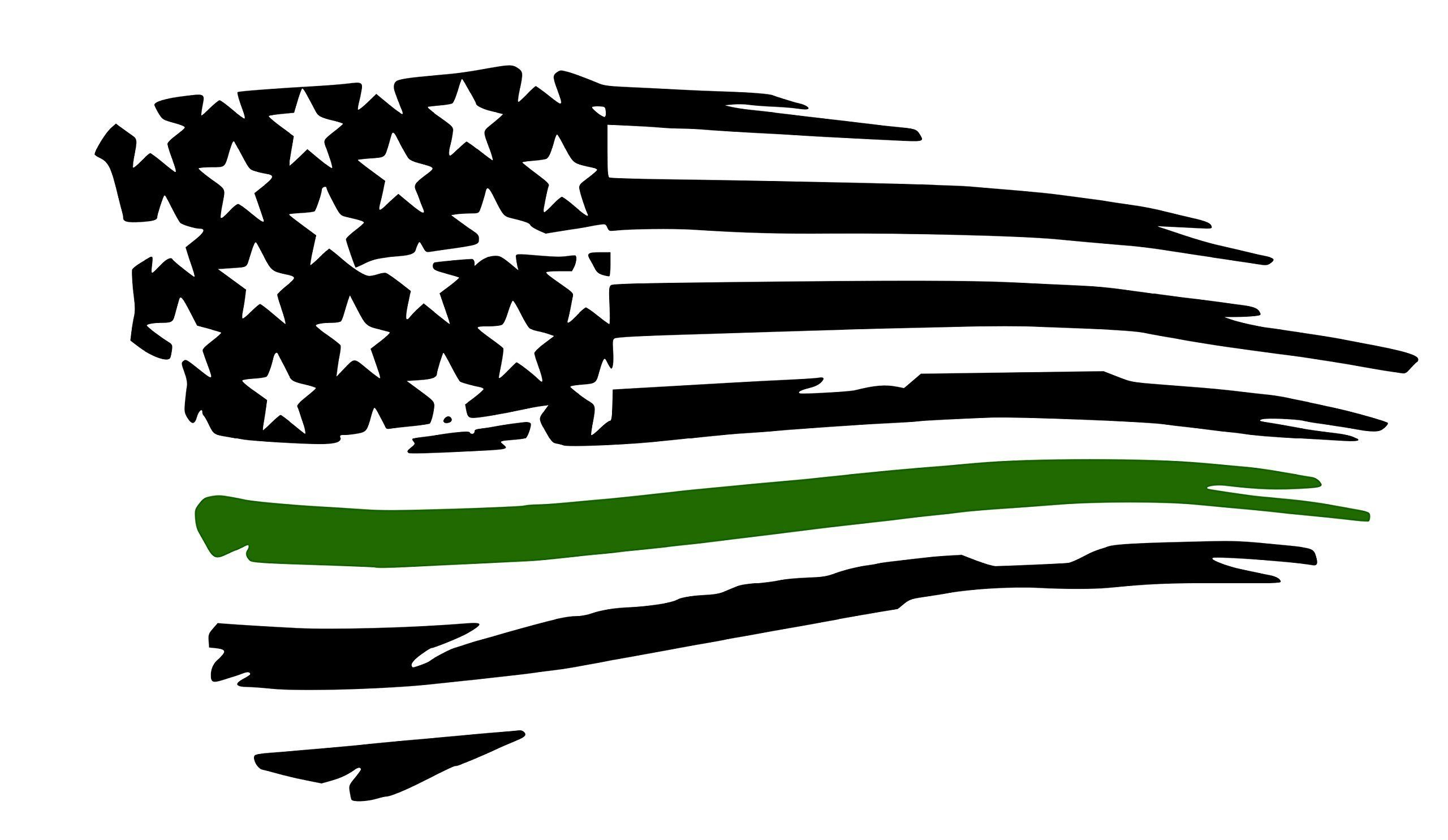 Army Tattered Flag Decal Military Pride. Show your love