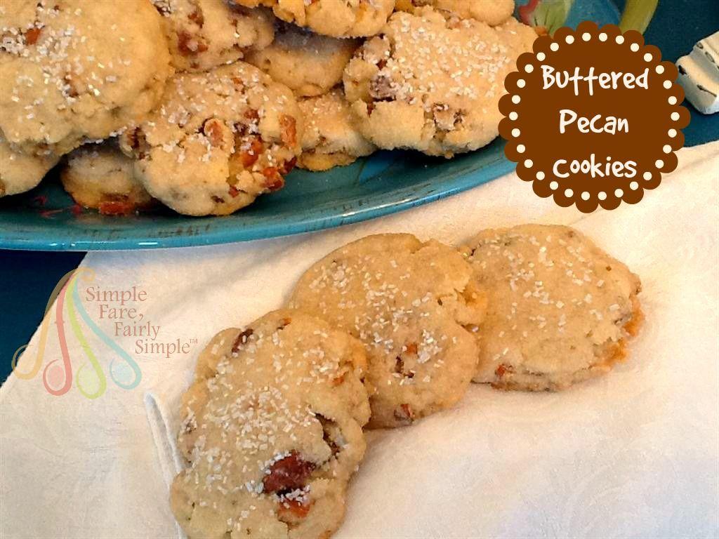 Buttered Pecan Cookies