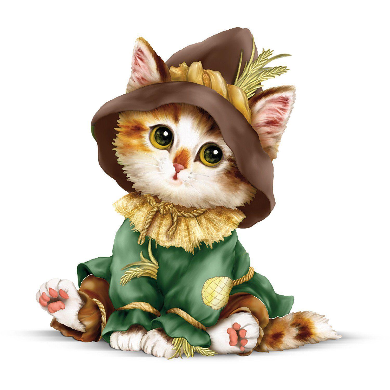 Amazon Com Kayomi Harai Kitten Off To See The Wizard Oz Scarecrow Figurine By The Hamilton Collection Cat Art Cute Animals Animal Art