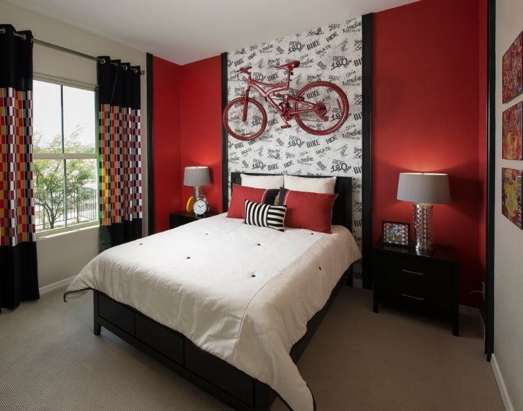 How To Decorate A Bedroom With Red Walls Red Bedroom Walls Red Bedroom Design Bedroom Red