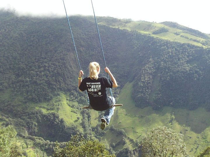 Swing At The End Of The World Is Located Off A Giant Cliff End