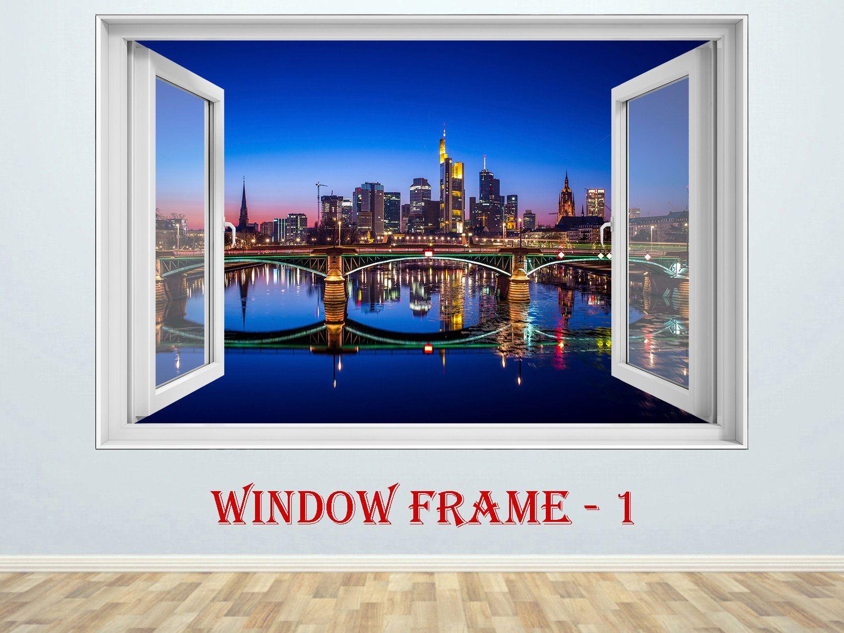 Frankfurt Decal Frankfurt Sticker Frankfurt Cityscape 3d Window