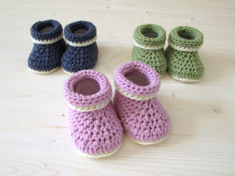Baby booties Crochet baby booties Purple baby booties 3-6 mo size baby booties Crochet shoes