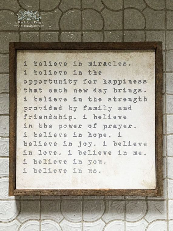 Personalized Anniversary Gift, I Believe in Us Quote, Wedding Gift, Inspirational Gift, Farmhouse Decor, Valentine's Gift Idea