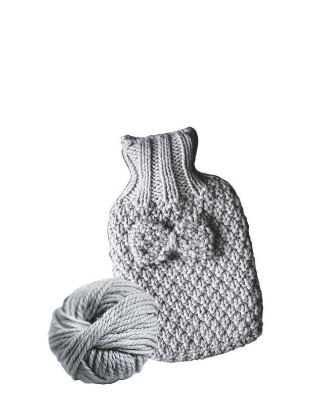 Funda de lana para la bolsa de agua caliente