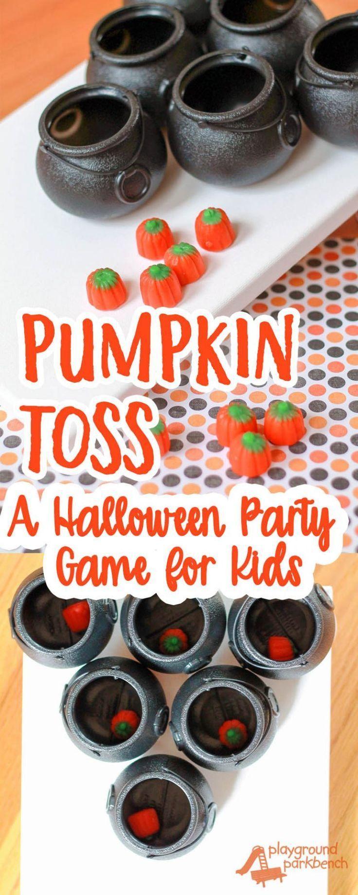 Pumpkin Toss: Simple Party Games for Children