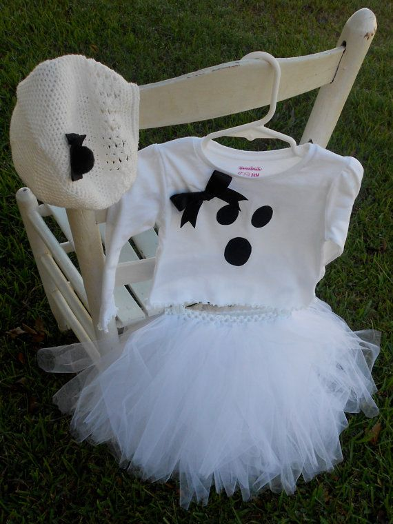 Toddler Ghost Costume with TUTU  Order in your by RoxiesBoutique, $45.00