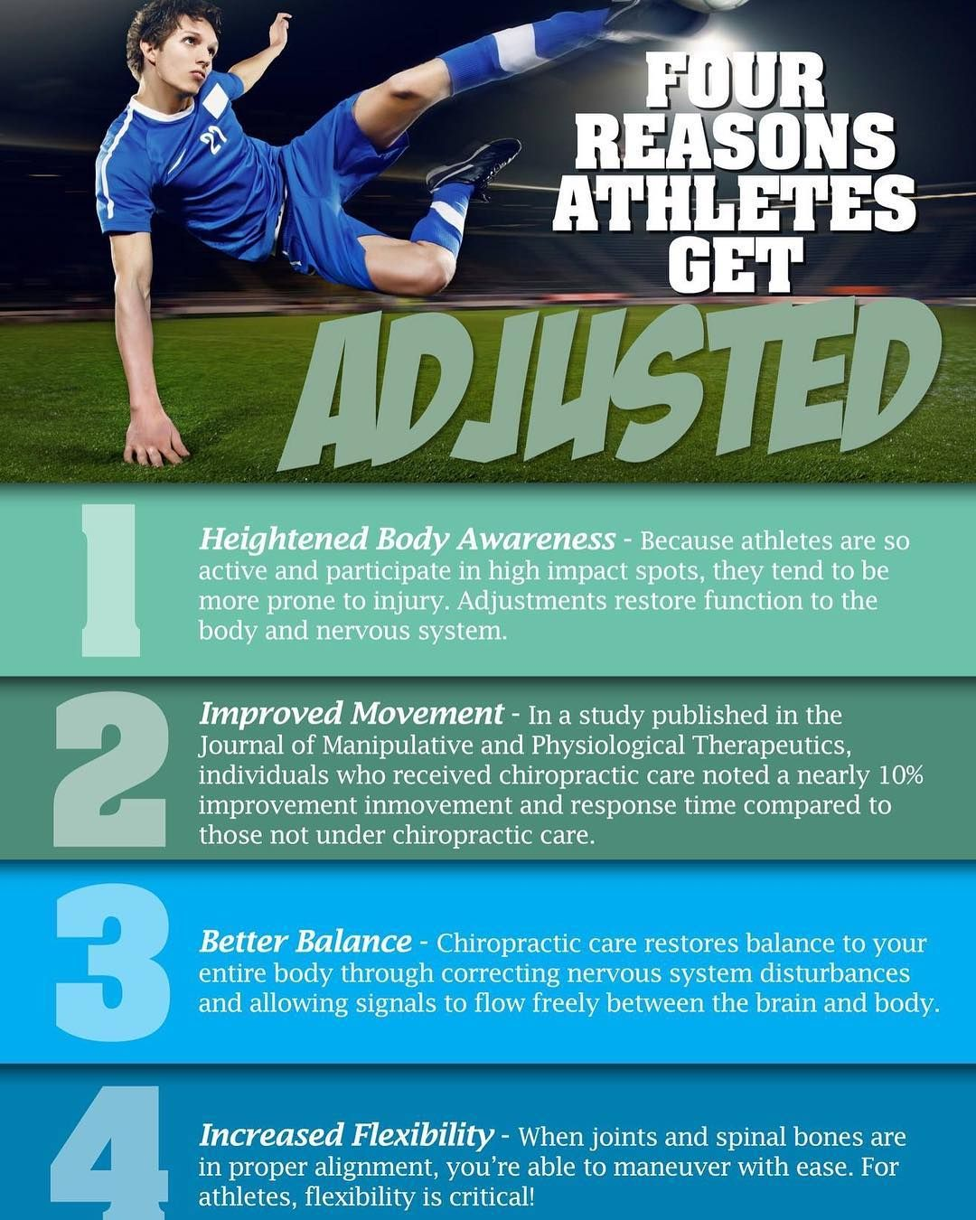 chiropractic keeps athletes performing at their BEST!!