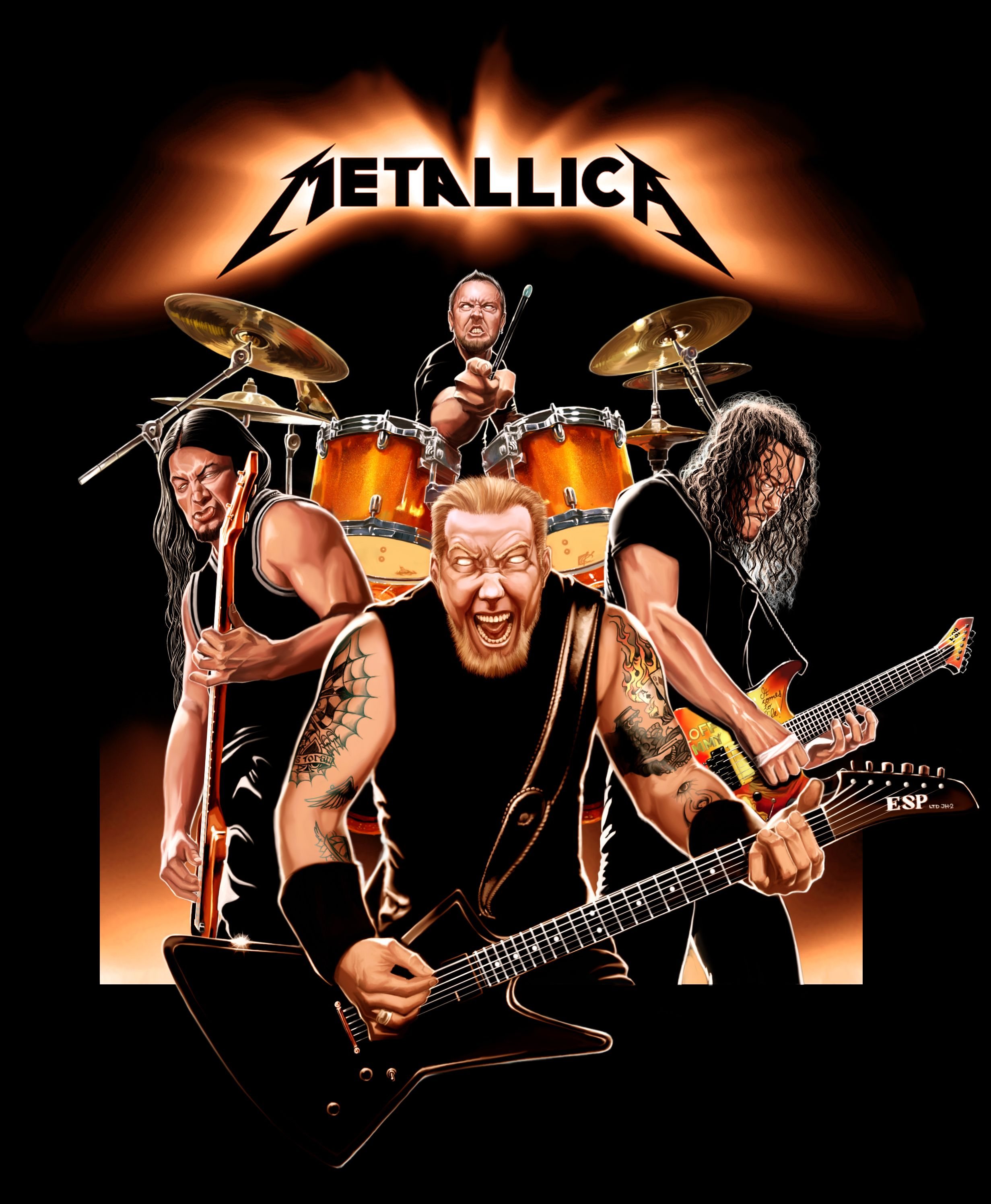 Metallica Band Cartoon