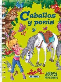 Agenda escolar permanente caballos y ponis