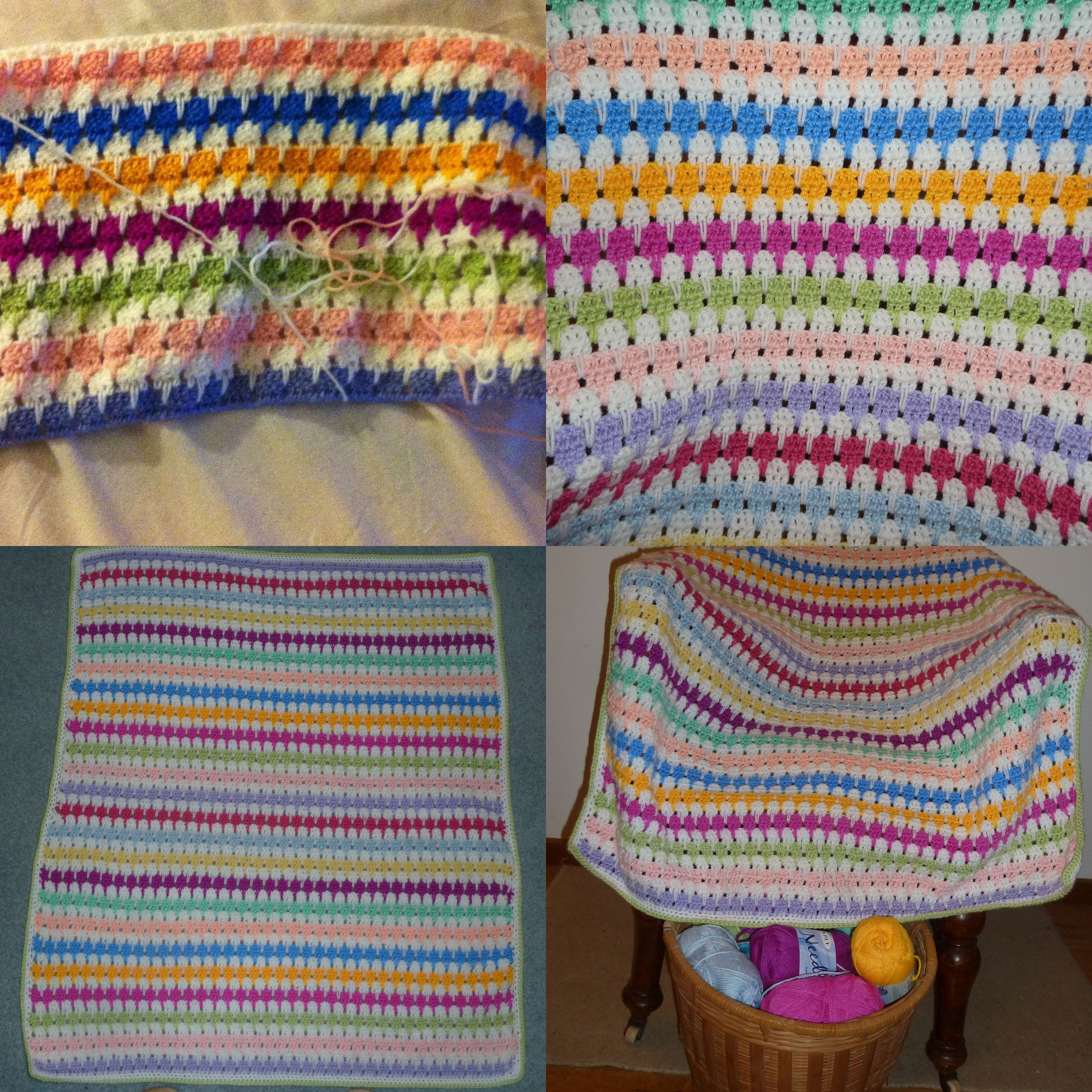 recently learnt to do the Icicle stitch. My latest knee rug ...
