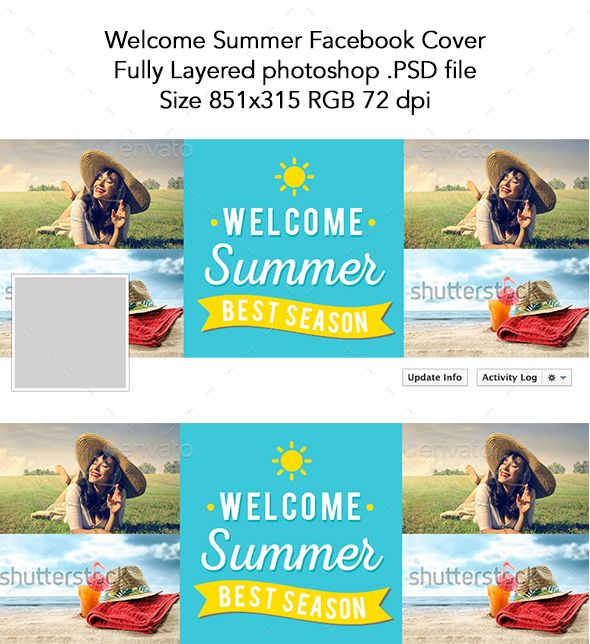 Welcome Summer Facebook Cover,adventure, beach, celebration - event timeline