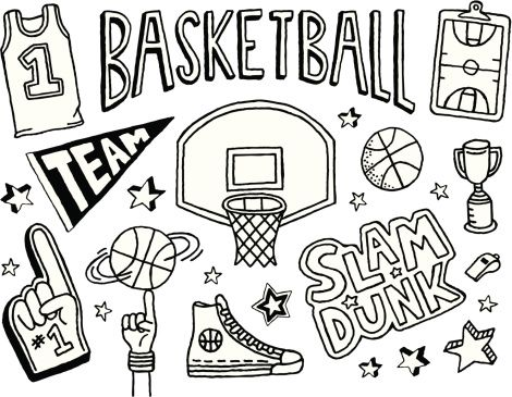 A Basketball Themed Doodle Page 2021 バスケットボール イラスト バスケットボール いたずら書き