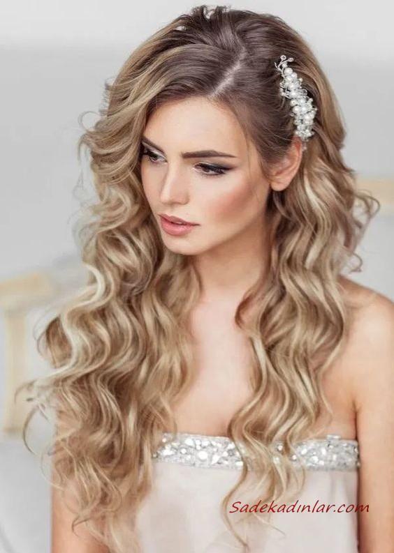 Sac Tokasi Ile Yapabileceginiz 2020 Gelin Sac Modelleri 2020 Gelin In 2020 Wedding Hairstyles For Long Hair Wedding Hair Inspiration Wedding Makeup For Brunettes
