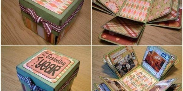 Exploding Scrapbook Box Scrapbooking Pinterest Scrapbook Box